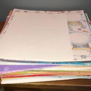 HUGE lot of 12X12 scrapbook paper